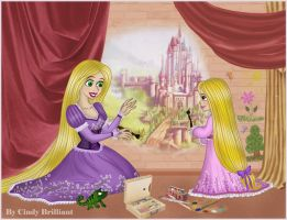Rapunzel and Raiponce by Cindy-Brilliant