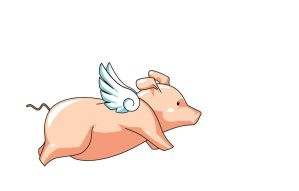 Fly, little pig, fly by niwanotanuki