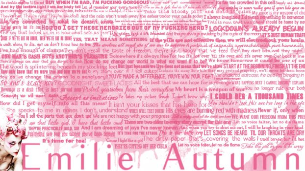 Emilie Autumn - FLAG lyric wallpapers by ConceptJunkie124