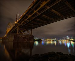 The Bridge And The Glowing City by mastermayhem