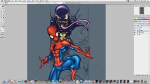 Spiderman and Baddies WIP 2 by JoeyVazquez