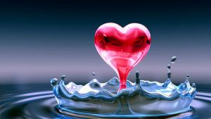 Red water heart by Enhancethetrance