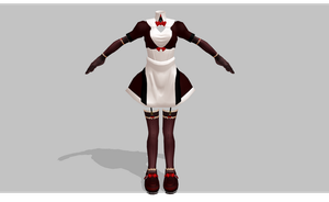 MMD maid set V7 by amiamy111