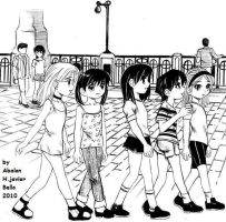 The walk of the girls by abalon0045