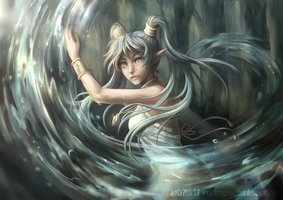 Water Elf by flyingpeachbun