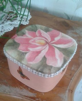 Decoupage spring box with butterfly by SteamJo