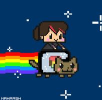 Nyan Cat   -SUSHI VER.- by MahaAsh
