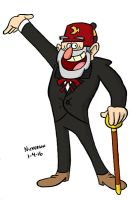 Daily Drawing 1-4-16 Grunkle Stan by joshnickerson