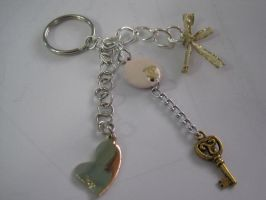 Pink-n-Gold Key Chain by chibifool