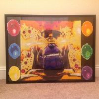 Thanos and the Infinity Gems framed by DOAruss