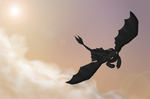 Toothless in the Sky by Emmski