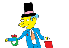 Mr. Burns with Christmas Spirit by Simpsonsfanatic33