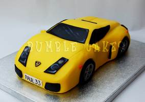 Lamborghini Gallardo Cake by MrsBumble