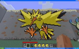 Zapdos On Minecraft by Miccopicco