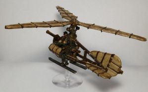 Dwarf Steampunk Gyrocopter by Teuril