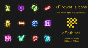 eFireworks Icon Pack for Apex, Nova, Go Launcher by gseth