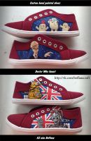 Doctor Who custom hand painted shoes by Beffana