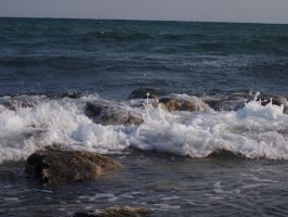 The waves of the Black Sea 4 by Tairis-Dark-Blue