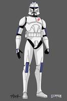 CT-7956 Changer, Armor markings by AxelHonoo