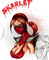 MK2011 Skarlet Sketch Colors 1 by RyanMcMurry