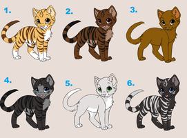 Free Cat Adoptables 2-CLOSED by Kaolai