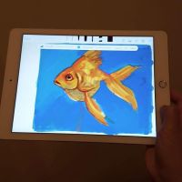 Goldfish Digital Fingerpainting Adobe Sketch app by taho