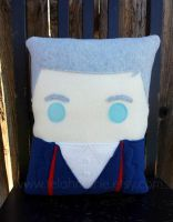 Peter Capaldi 12th doctor pillow by Telahmarie