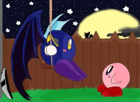 Kirby - In Park at night by pikachu-25