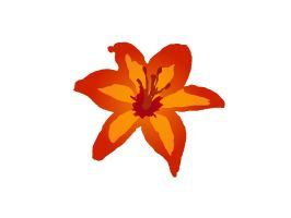 Orange Lily Vector by Wistfulwish