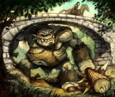 Ogre Under the Bridge by VegasMike
