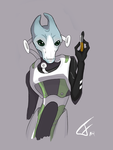 Scientist Salarian by Lucky-Atin