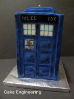 Tardis Cake 2 by cake-engineering
