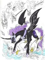 My take on NightMare Moon by devilkais