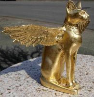Golden Winged Bastet by LEXLOTHOR