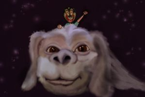 me and Falcor by Makinita
