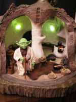 Yoda and His Hut 1 by BLUE-PROMETHEUS