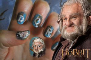 The Hobbit, Dori, Nail Art by Nippip