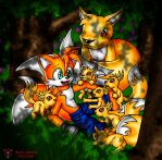 Tails, and Plox puppys by Lord-Kiyo