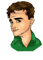 Comedian Caricature A by raccoon-eyes