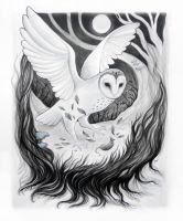 Mother of Night, Pearl White by JillHoffman