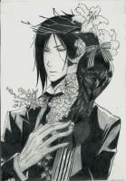 Sebastian with the crow by ShadowofChaos666