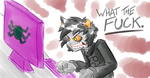 Karkat Hates Your Page by SentientBeef