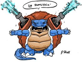 Blastoise by JHALLpokemon