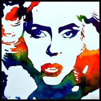 Painting- Lady Gaga by Ennete