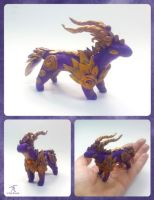 Purplegold Dragon by TrollGirl