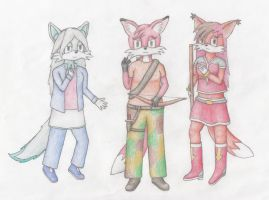 Foxy Ladies by StoryMaker91