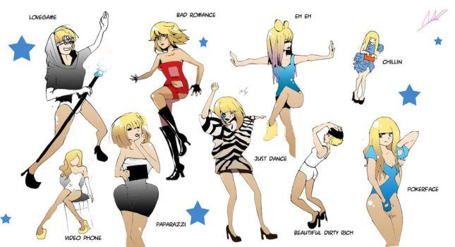 Lady Gaga's Outfits by rachitick