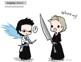 Day 7: Cosplaying (Destiel version) by Nile-kun