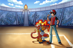 Infernape and Ash Commission by Ashteritops