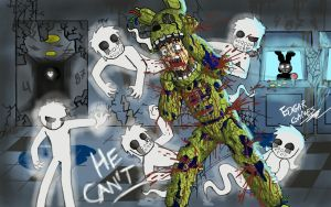 Children, HELP ME!!! SpringTrap FNAF3 by Edgar-Games